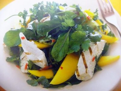 How to make chicken and mango with a chilli lime dressings? Chicken and mango with a chilli lime dressing recipes and ingredient shared on our page.