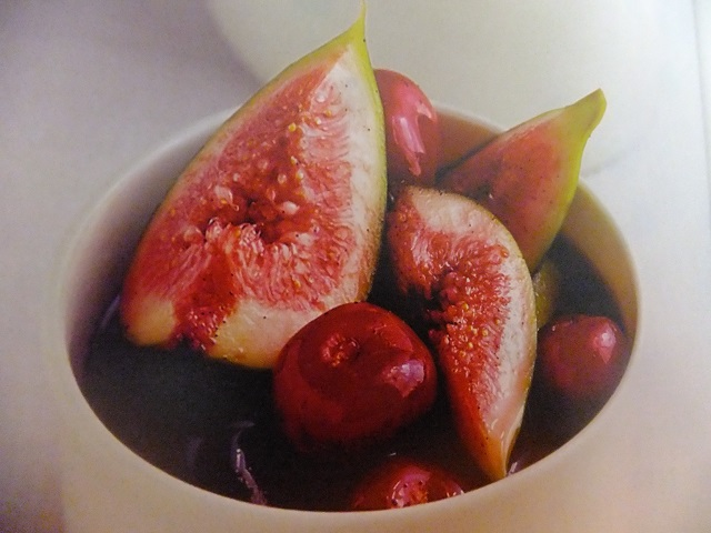 Cherry and fig compote for ice cream