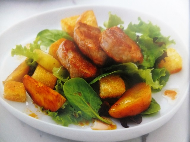 How to make apple and pork salad with cider dressing? Apple and pork salad with cider dressing recipes and ingredients shared on our page.