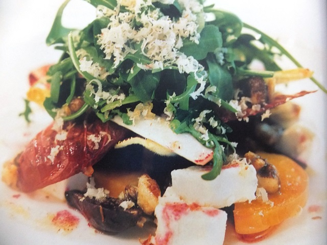 Goats' cheese and beetroot salad