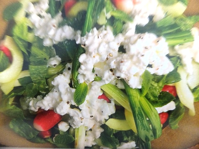 How to make grilled spring onions, radish and cottage cheese salads? Grilled spring onions, radish and cottage cheese salad recipes and ingredient shared