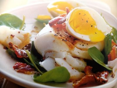 How to make haddock, crispy bacon and spinachs? Haddock, crispy bacon and spinach recipes and ingredient shared on our page.