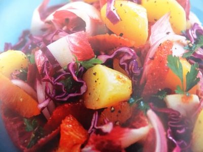 How to make hot potato, orange and red cabbage salads? Hot potato, orange and red cabbage salad recipes and ingredient shared on our page.