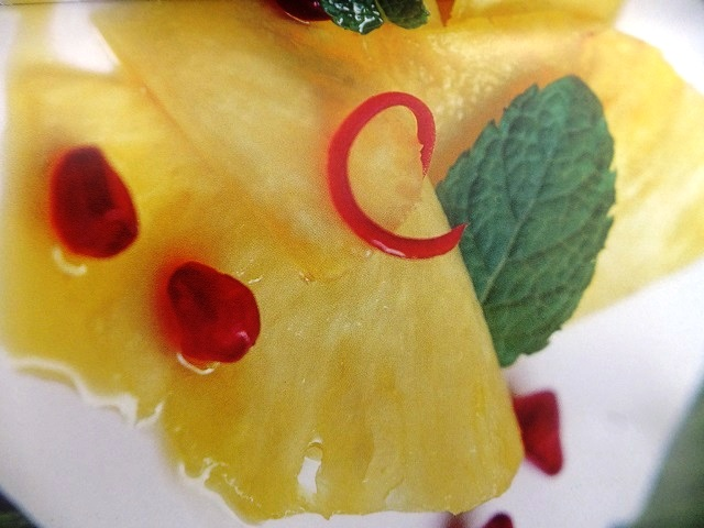 Pineapple, passion fruit and pomegranate