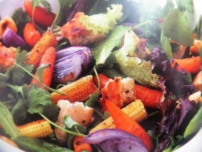 How to make roasted baby vegetable salad with croutons? Roasted baby vegetable salad with croutons recipes and ingredient shared on our page.