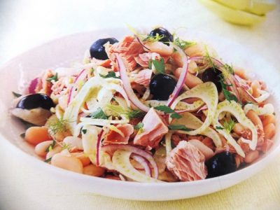 How to make Tuna, fennel and white bean salads? Tuna, fennel and white bean salad recipes and ingredient shared on our page.