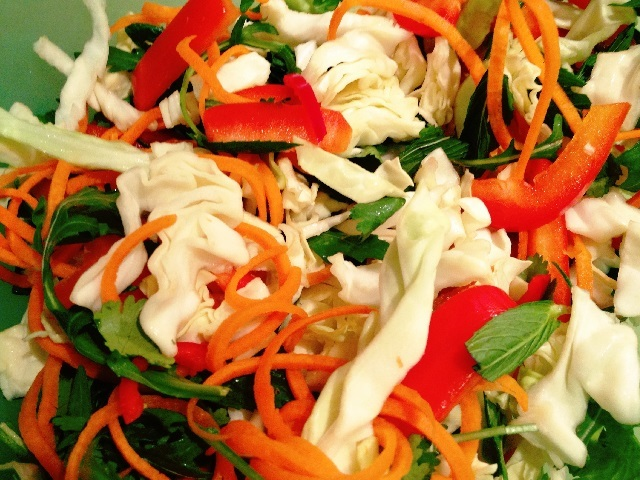 Vietnamese minted chicken salad