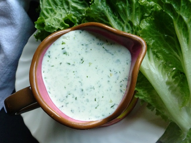 Cheese and herb dressing