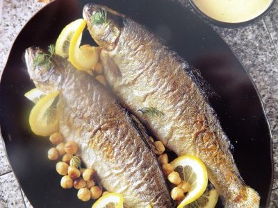 Low in fat and high in protein, trout is delicious and very versatile. Serve it with this nutty dill sauce for a fast but impressive main dish.