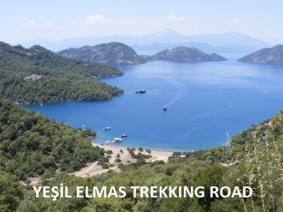 track trekking in Dalaman ; The 40 km Trekking Road is a natural wonder for those who are interested in cycling, trekking or walking. Starting Road is Göcek,