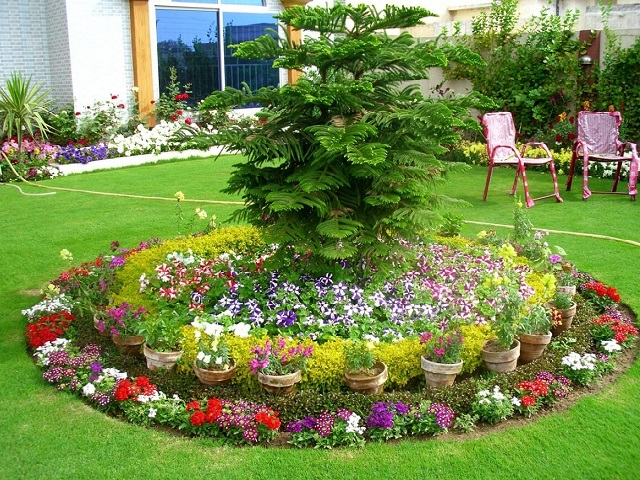 How to build an outside flower garden ?