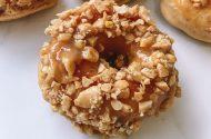 Peanut butter glazed donuts