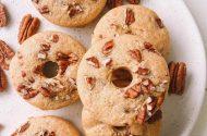 Maple pecan donuts